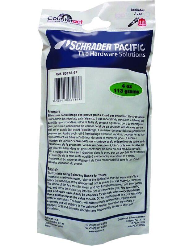 Balansavimo  granulės Schrader  4 oz. 113 g.